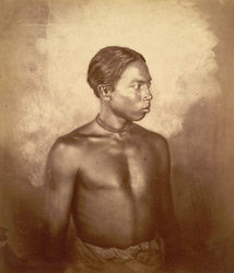 Portrait of a Manipuri man.